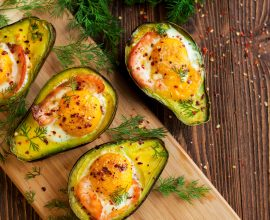 Kamado Grill Recipe: Smoked Salmon & Egg Baked Avocado