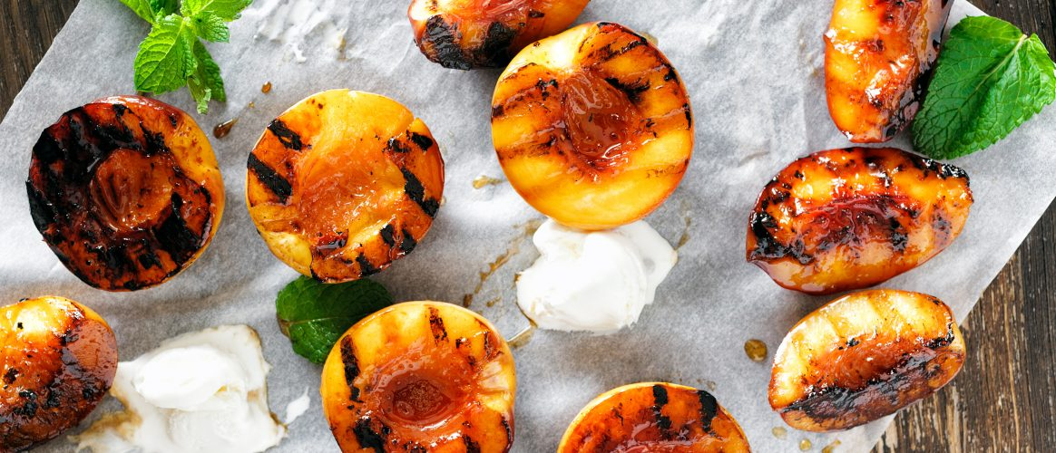 Kamado Recipes Grilled Peaches